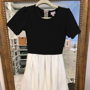 NWT Lularoe amelia dress xs noir black and white